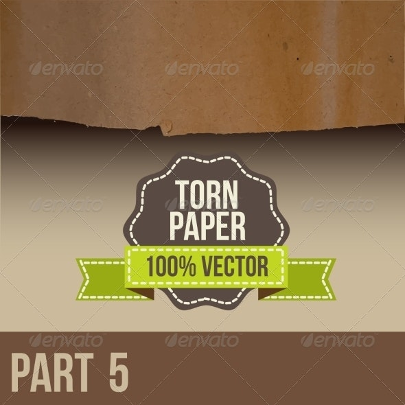 Brown Paper with Torn Edge - Miscellaneous Vectors