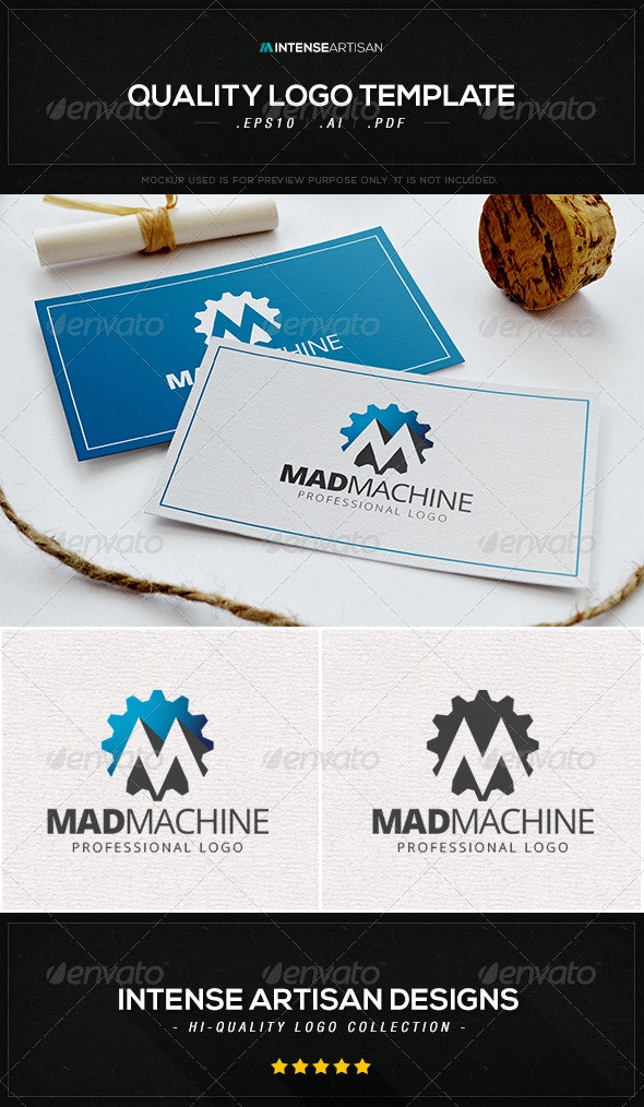Mad Machine Logo Template - Letters Logo Templates