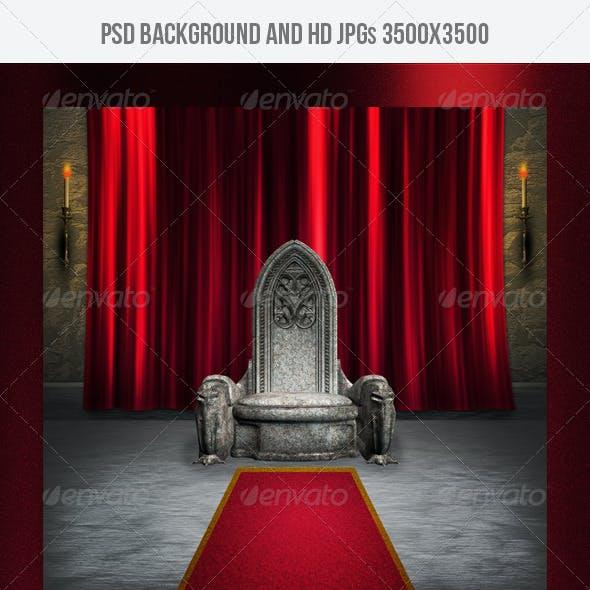 Throne Room Gothic Background