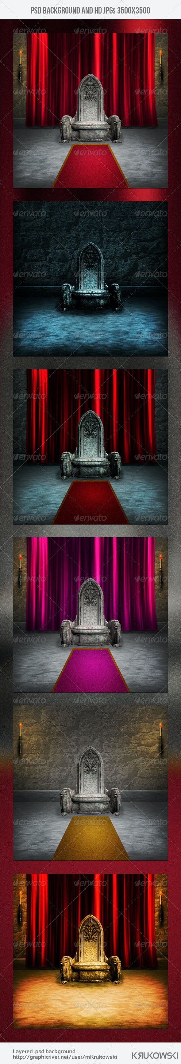 Throne Room Gothic Background - Miscellaneous Backgrounds
