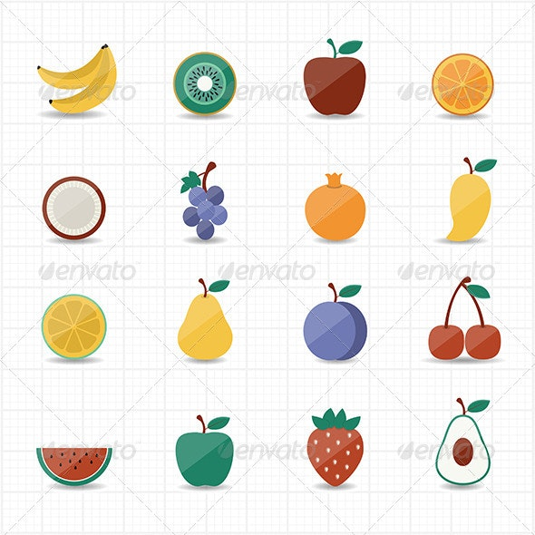 Fruits Icon - Food Objects