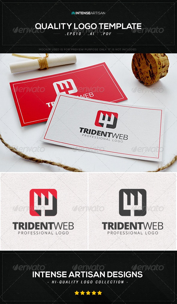Trident Web Logo Template - Letters Logo Templates