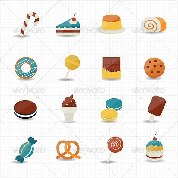 Sweet Food and Sweetmeat Icons