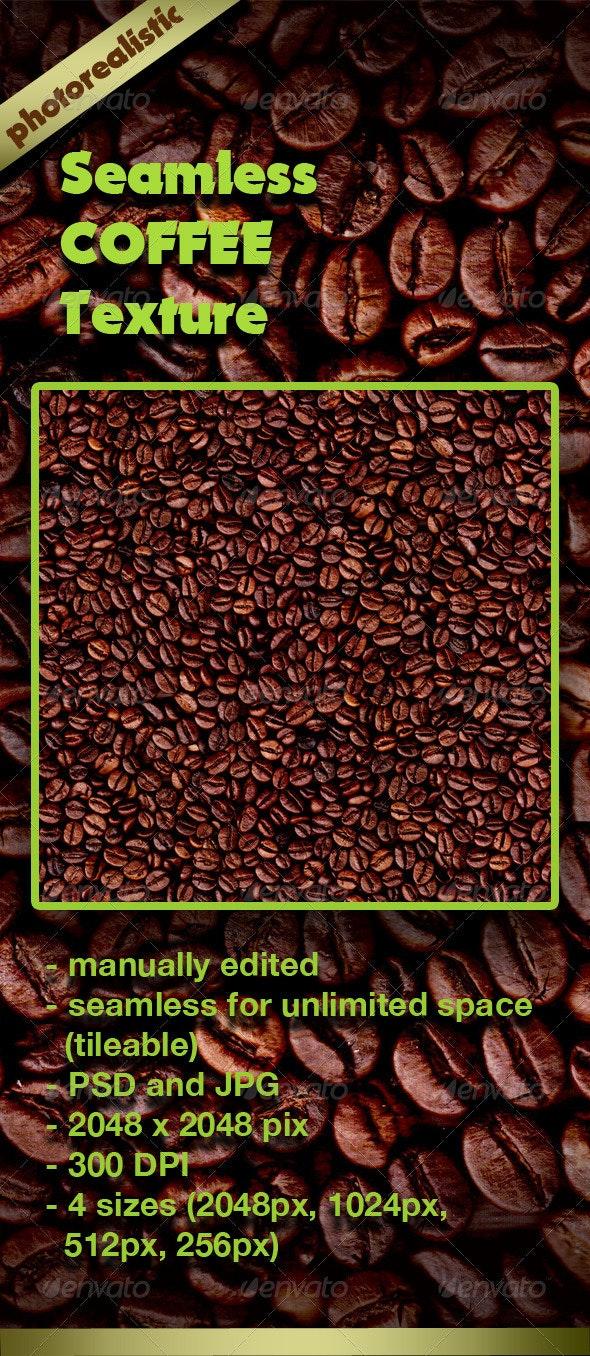 Seamless Coffee Beans Texture - Miscellaneous Textures