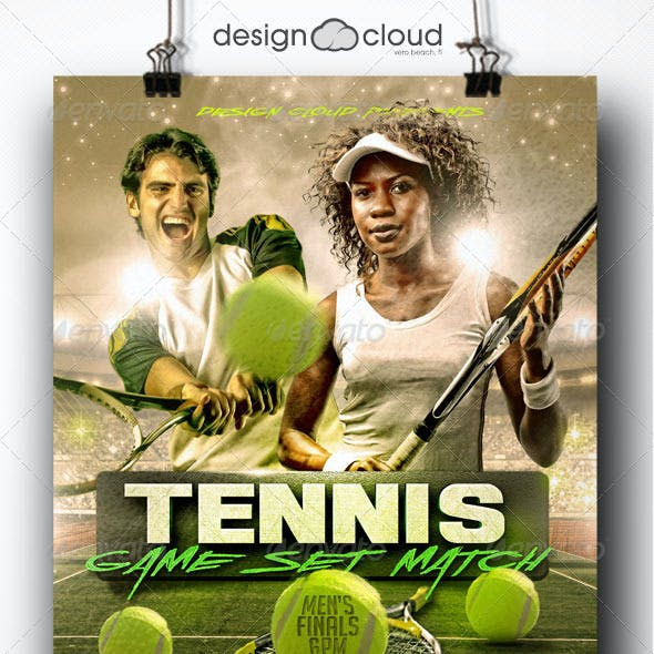 Tennis - Game, Set Match Flyer Template