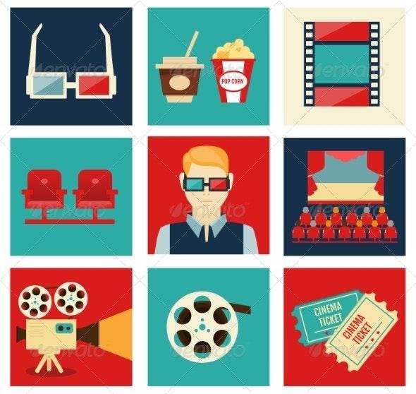 Movie Icon Set - Sports/Activity Conceptual