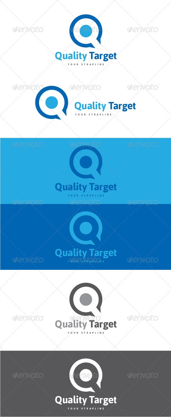 Quality Target Letter Q Logo - Letters Logo Templates