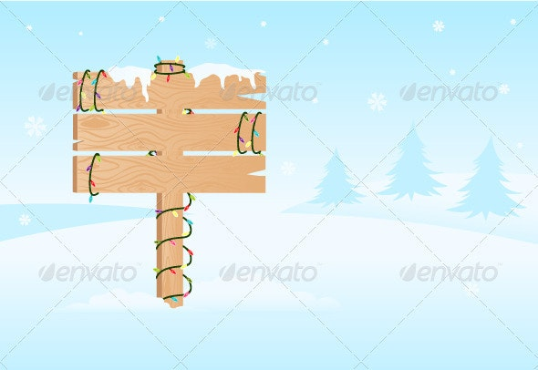 Wooden Signboard - Objects Vectors