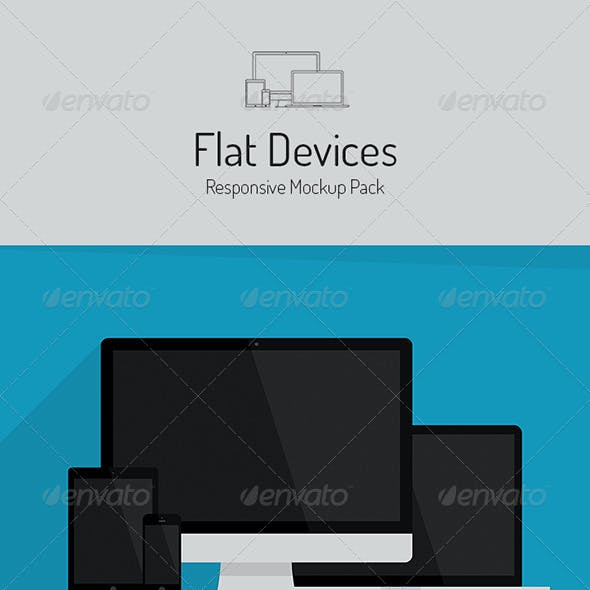 Flat Devices - Responsive Mockup Pack