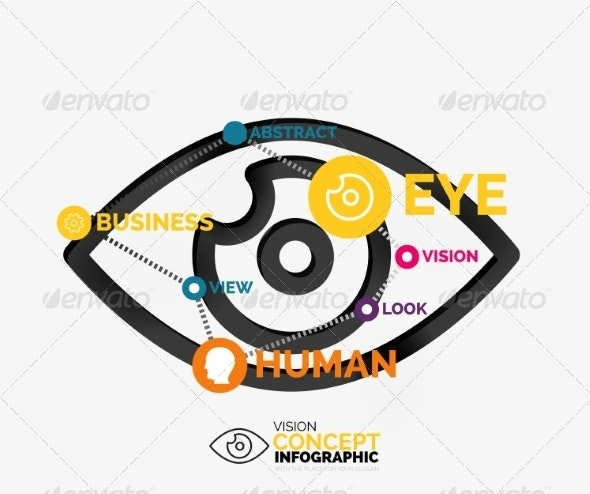 Vision Eye Infographic Conceptual Composition - Miscellaneous Vectors