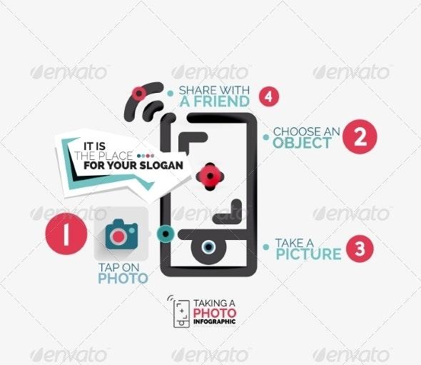 Mobile Photo Shooting Flat Line - Miscellaneous Vectors