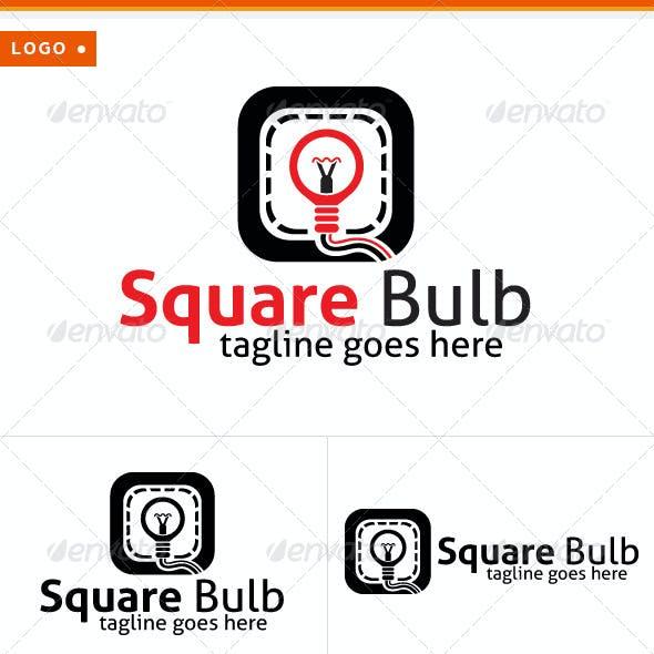 Square & Bulb Logo
