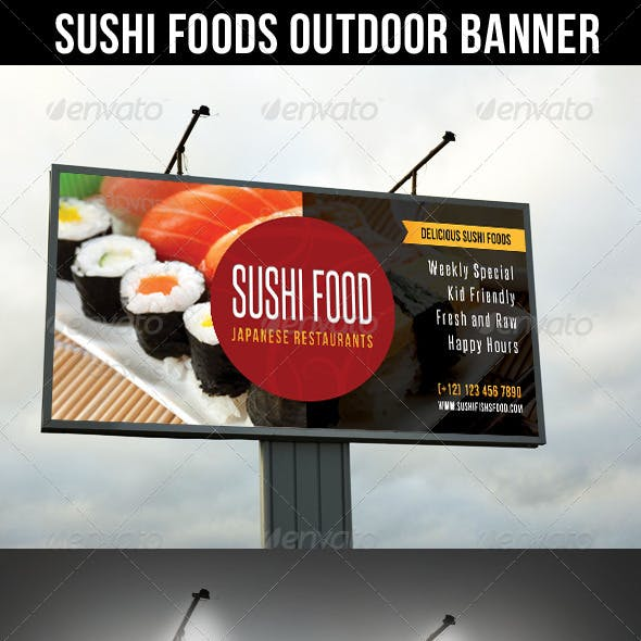 Sushi Food Outdoor Banner 02