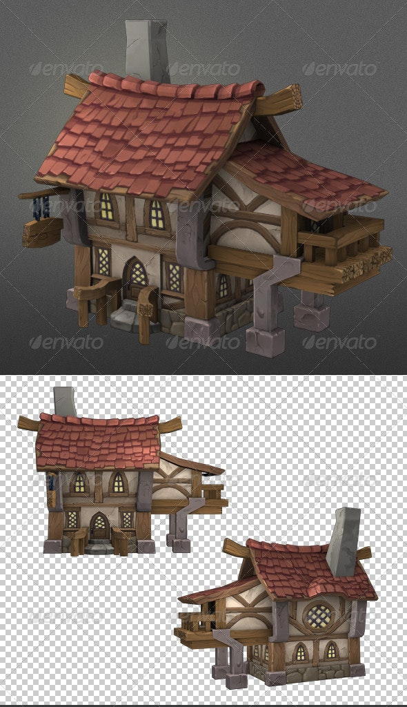 Wood House1 - 3D Renders Graphics