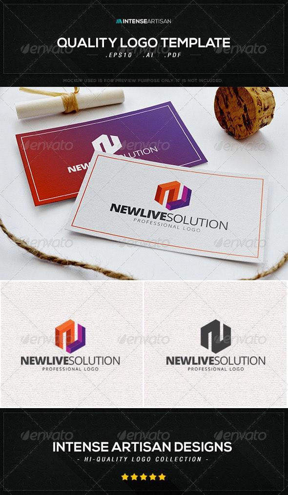 Newlive Solution Logo Template - Letters Logo Templates