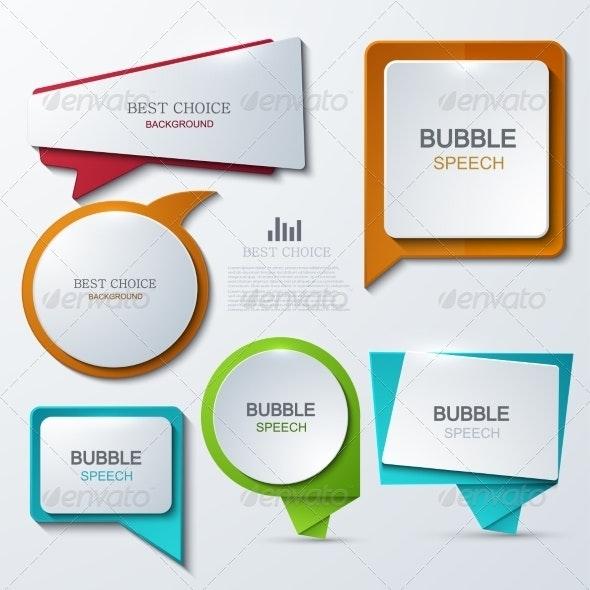 Modern Bubble Speech Icons Set - Web Technology