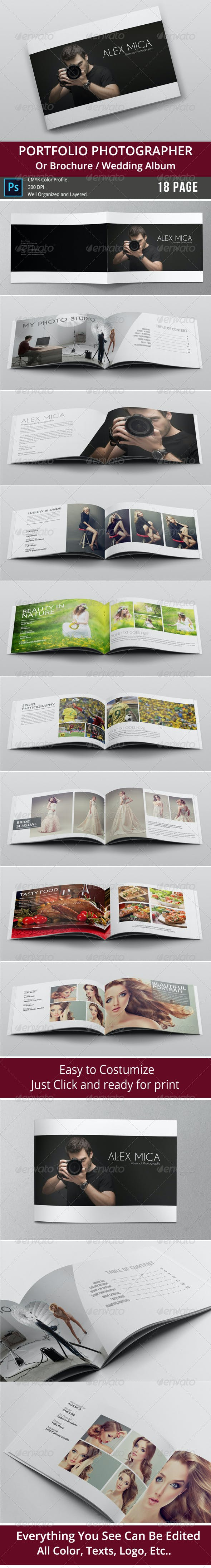 18 Pages Photography Portfolio or Photo Album