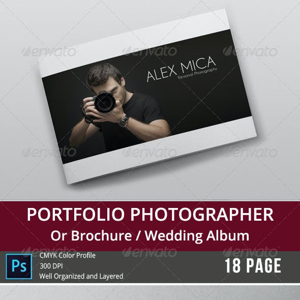 18 Pages Photography Portfolio or Photo Album