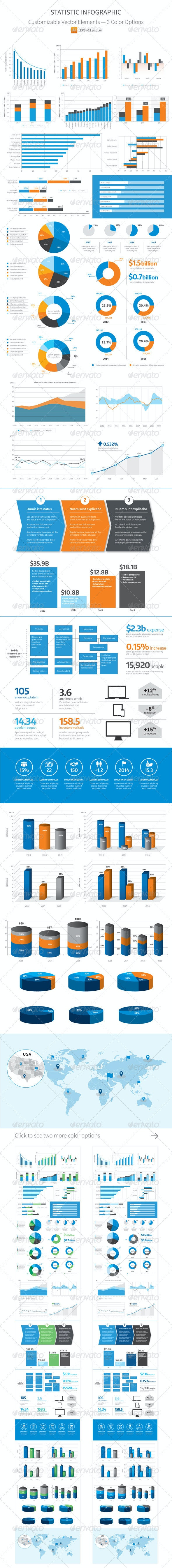 Statistic Infographic - Vector - Infographics