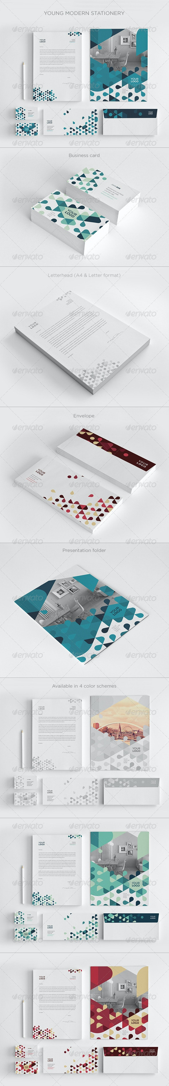 Young Modern Stationery - Stationery Print Templates