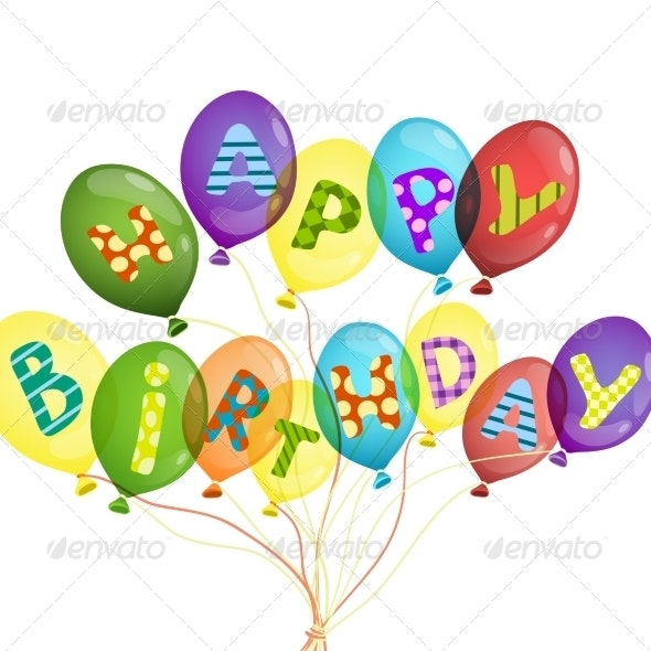 Colorful Birthday Background - Birthdays Seasons/Holidays