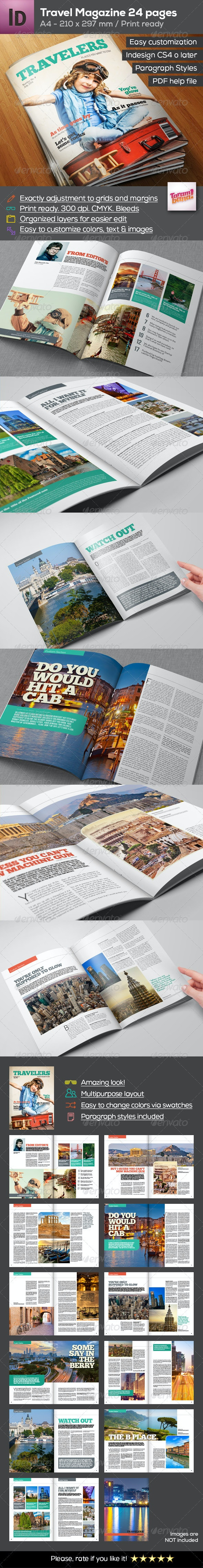 A4 Travel Magazine 24 pages - Magazines Print Templates