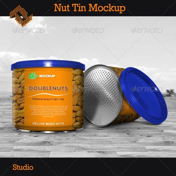 Nut Tin Mockup