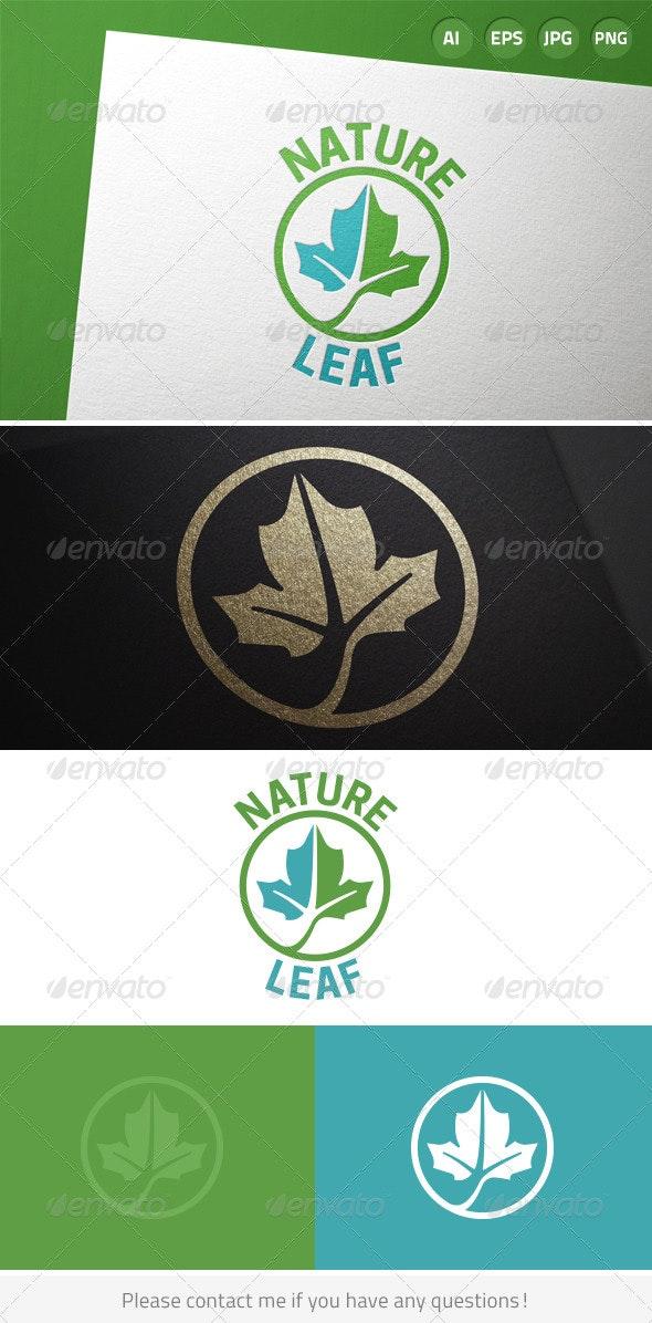 Green Leaf Nature Logo - Nature Logo Templates