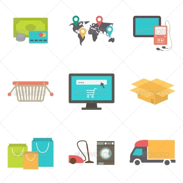 eCommerce Icon Set - Retail Commercial / Shopping