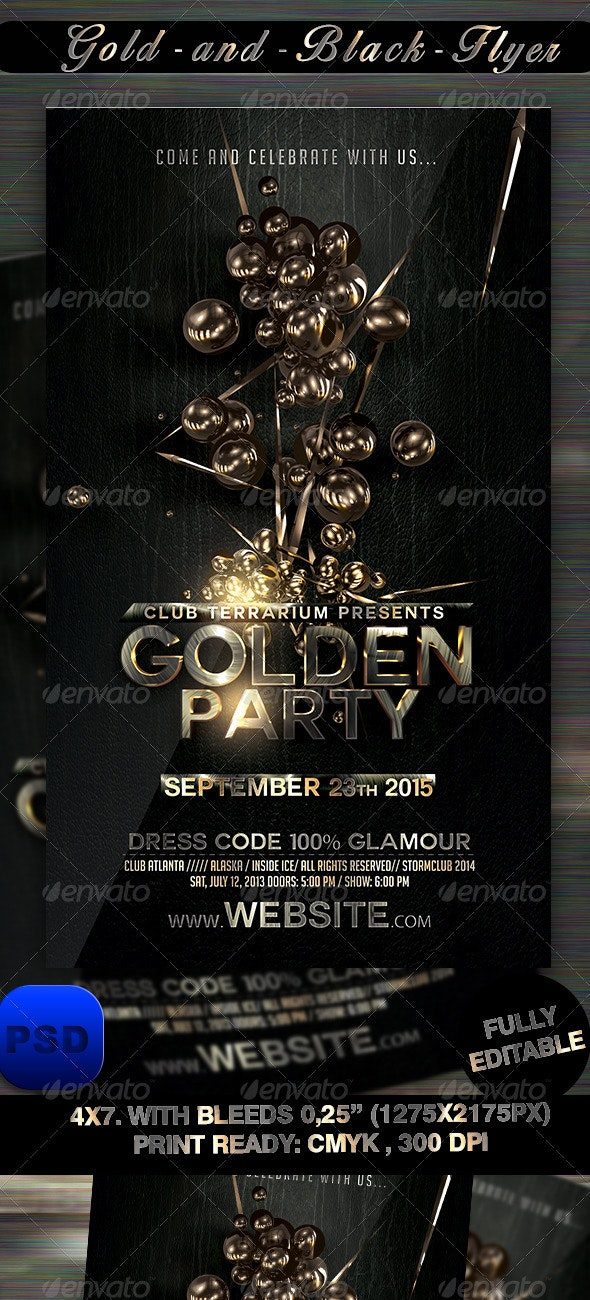 Gold and Black Flyer Template - Events Flyers