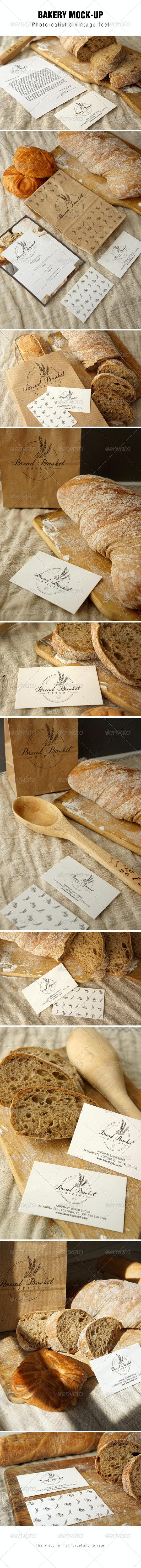 Bakery Branding Mockup - Stationery Print