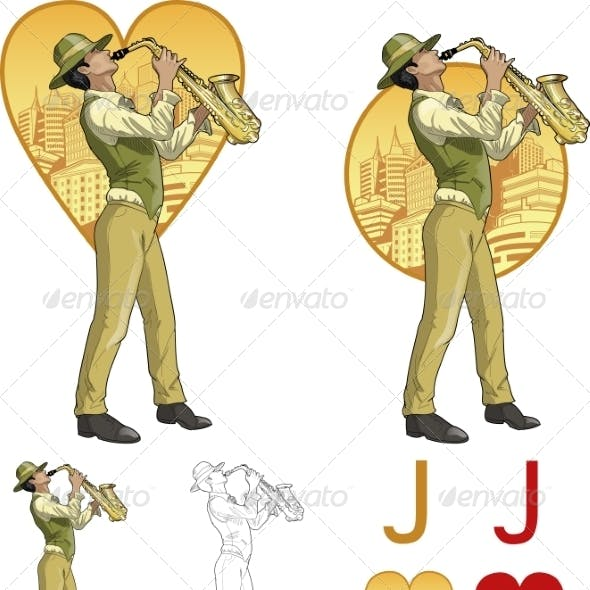 Jack of Hearts Mixed Race Musician