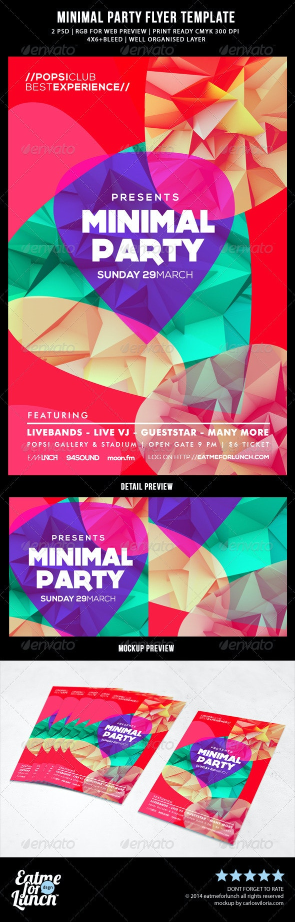 Minimal Abstract  Flyer Template - Events Flyers