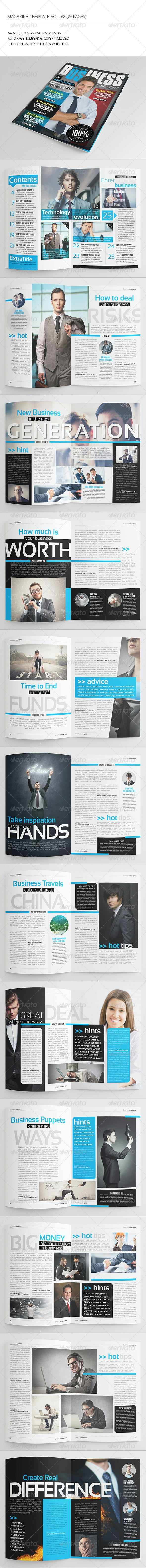 25 Pages Business Magazine Vol68 - Magazines Print Templates
