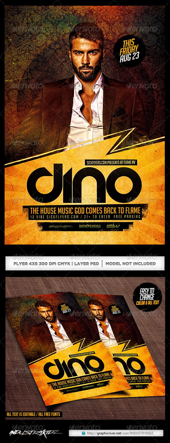 Classy Dj Flyer Template PSD - Clubs & Parties Events