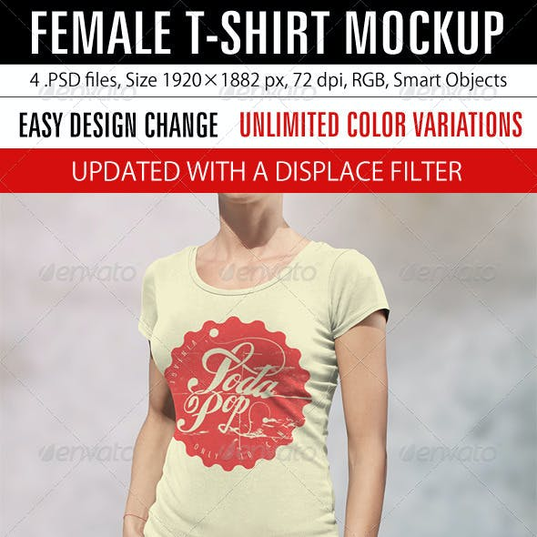 Female T-Shirt Mockup