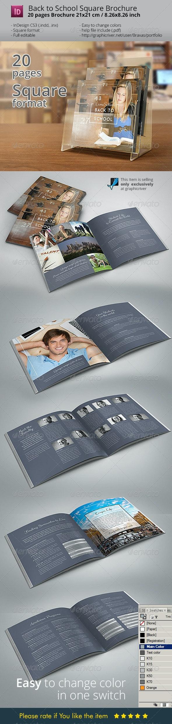 Back To School Square Brochure - Informational Brochures