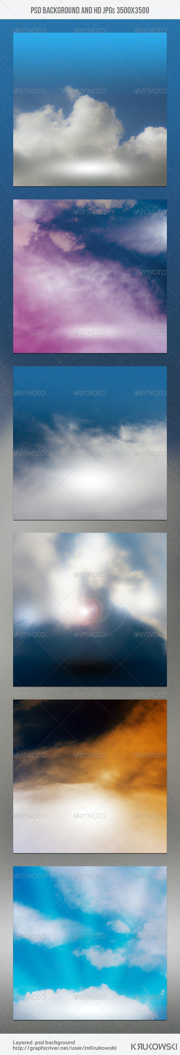 Clouds Stage Skyline Backdrop - Nature Backgrounds