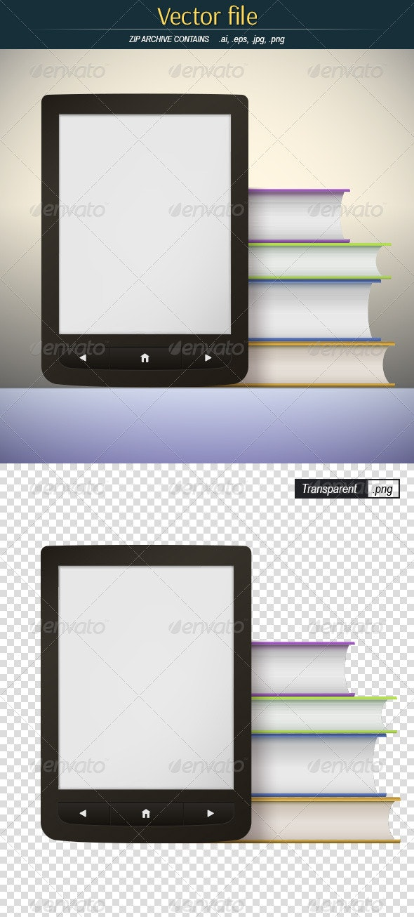 Books & eBook - Objects Vectors