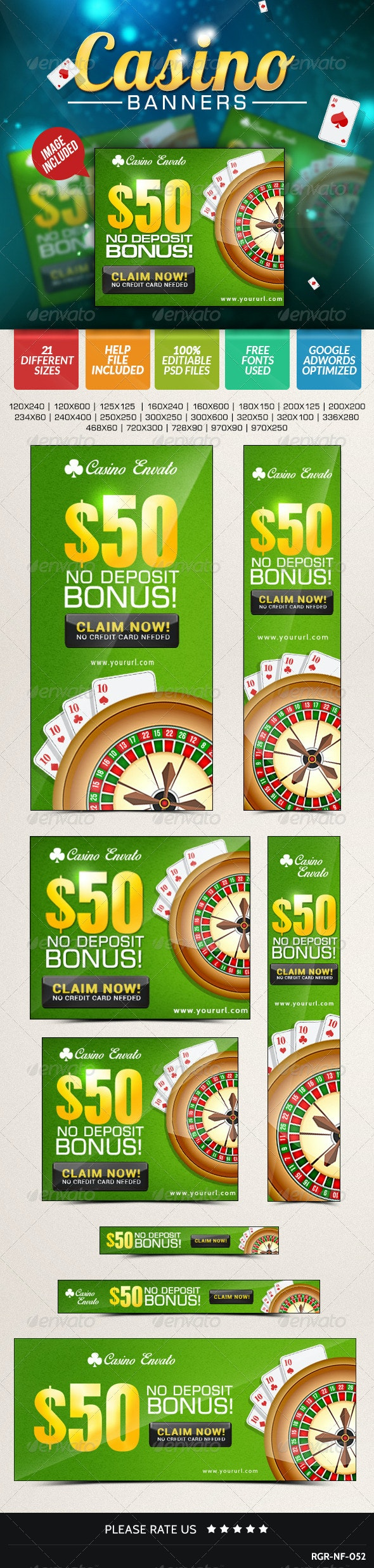 Casino Banners - Banners & Ads Web Elements