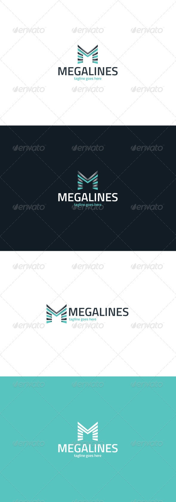Mega Lines Logo — Letter M - Letters Logo Templates