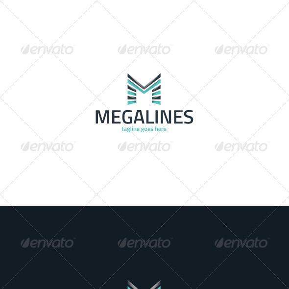Mega Lines Logo — Letter M