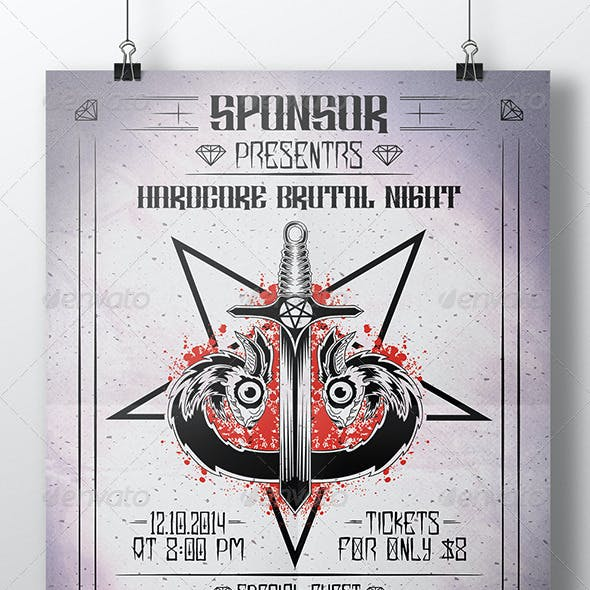 Evil Serpent Sword Flyer