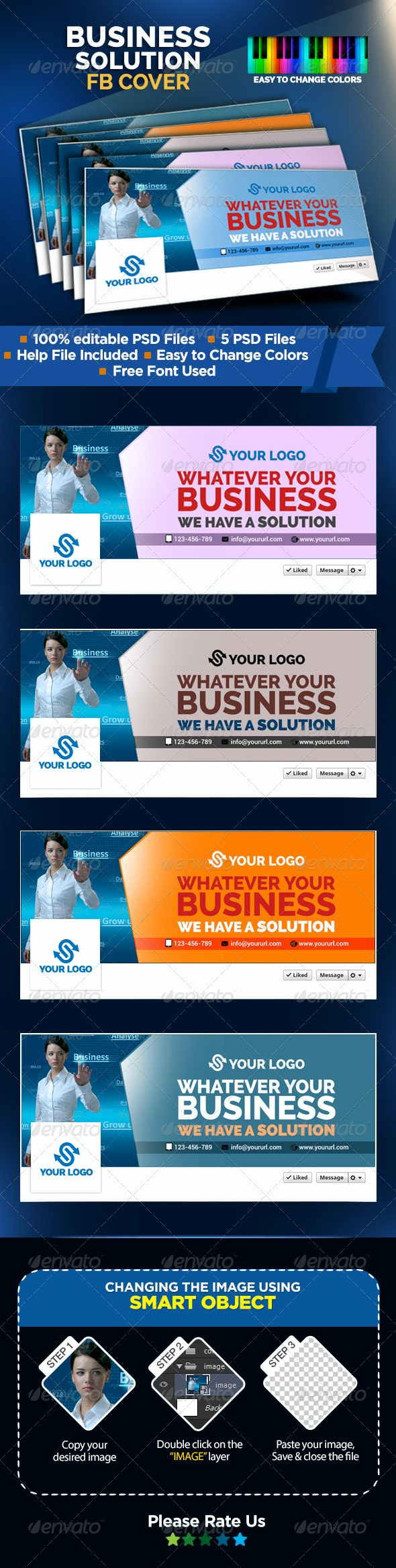Business Solutions Facebook Covers - Facebook Timeline Covers Social Media