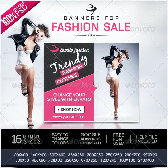 Fashion & Clothing Banners
