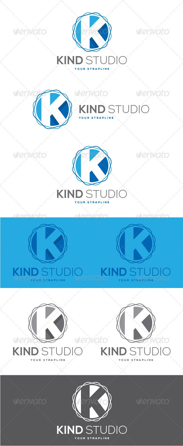 Kind Studio Letter K Logo - Letters Logo Templates