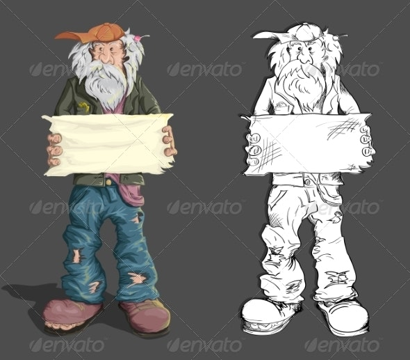 Homeless Man - People Characters