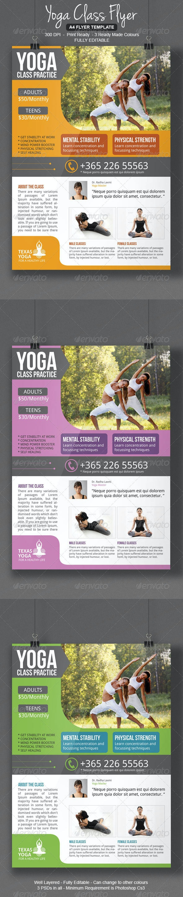 Yoga Class Flyer - Corporate Flyers