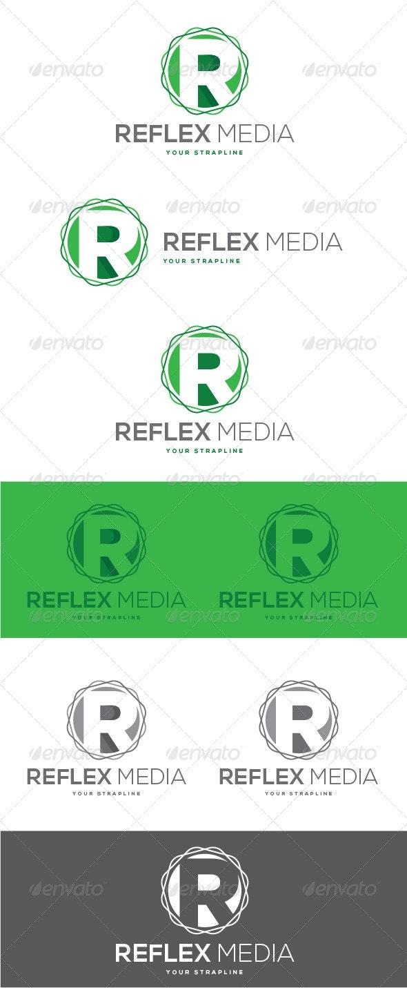 Reflex Media Letter R Logo - Letters Logo Templates