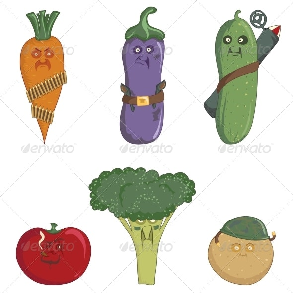 Militant Vegetables - Food Objects